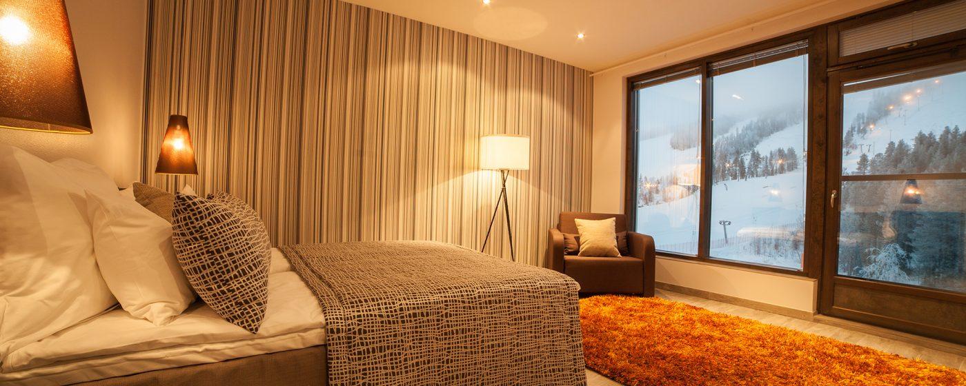 Hotelli Suomutunturi De Lux room.